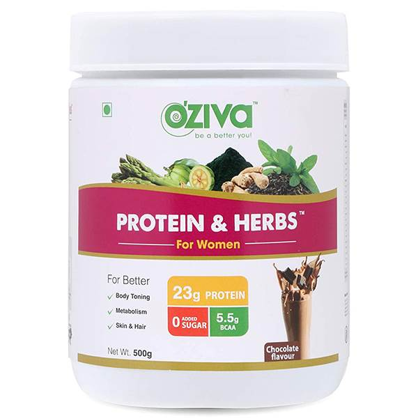 OZiva Whey Protein and Herbs
